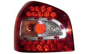 Audi A3 Lexus style Diodebaglygter LED, rød