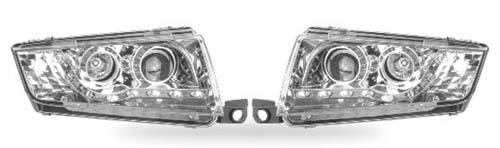 Skoda Fabia Dragonlights med Diodekørelys LED, krom